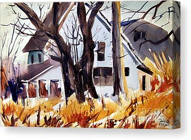 Indiana Scenes Paintings Canvas Prints