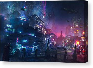 Cyberpunk Canvas Prints