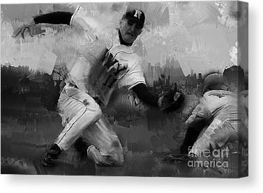 Chase Utley Paintings Canvas Prints