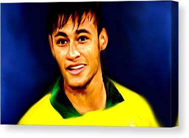 Neymar Jr Canvas Prints