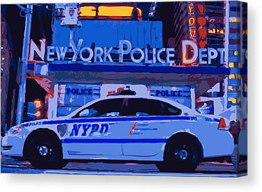 Police Force Of New York Canvas Prints