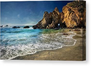 Coast Hwy Ca Canvas Prints