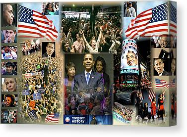 The 2008 Presidential Election Digital Art Canvas Prints