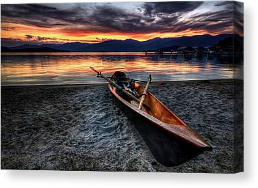 Canoe Canvas Prints