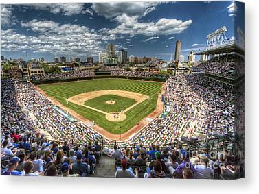 Wrigley Field Canvas Prints