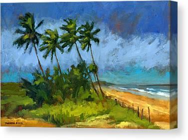 Windblown Paintings Canvas Prints