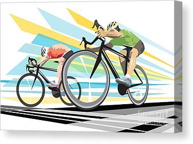 Cyclist Canvas Prints