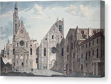 The Church Drawings Canvas Prints