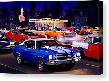 1970 Dodge Super Bee Canvas Prints