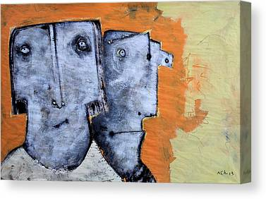 Outsider Mixed Media Canvas Prints