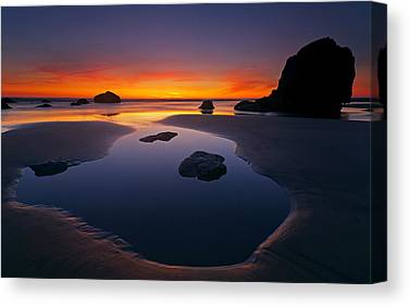 Low Tide Canvas Prints