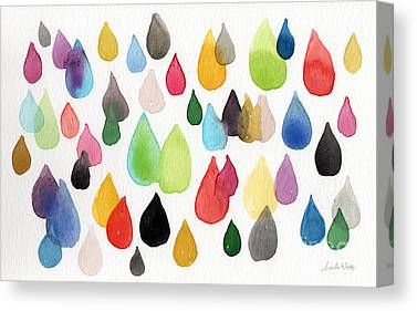 Drops Of Water Canvas Prints