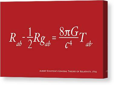Theory Of Relativity Canvas Prints