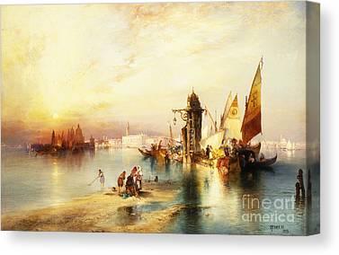 Sailboat Sunset Canvas Prints