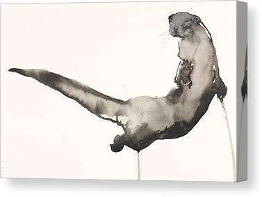 Otter Drawings Canvas Prints