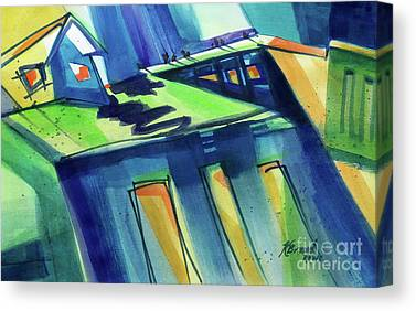 Old Feed Mills Paintings Canvas Prints