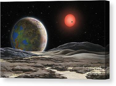 Exoplanet Paintings Canvas Prints