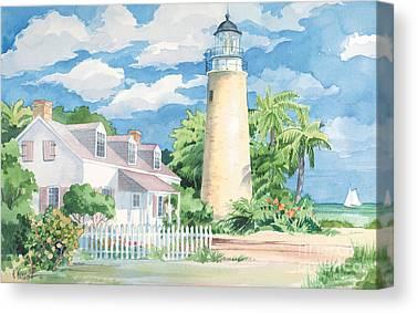Cape Florida Lighthouse Canvas Prints