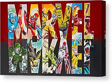 Ironman Drawings Canvas Prints