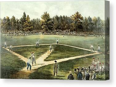 American Pastime Canvas Prints