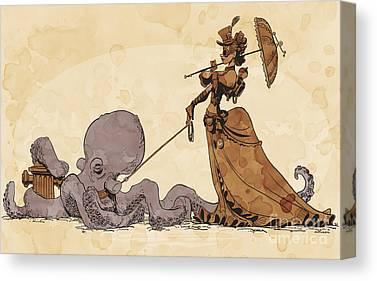 Octopus Canvas Prints
