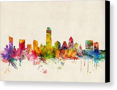 Austin Skyline Canvas Prints