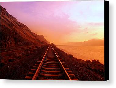 The Long Walk To No Where  Canvas Print by Jeff Swan