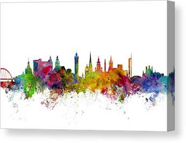 Glasgow Canvas Prints