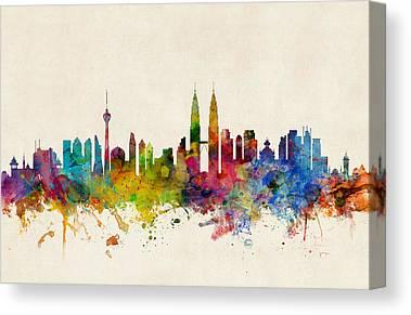 Malaysia Digital Art Canvas Prints