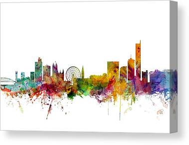 Manchester Skyline Canvas Prints