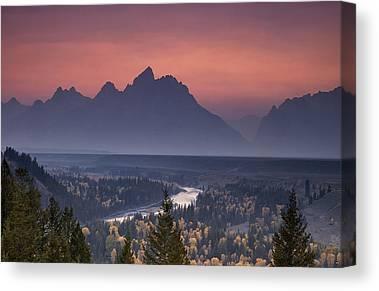 Pastel Mountains Canvas Prints