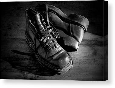 Black Shoes Canvas Prints