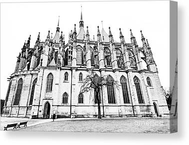 St Barbara Digital Art Canvas Prints