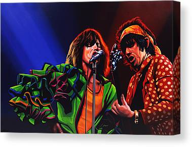 Mick Jagger And Keith Richards Canvas Prints