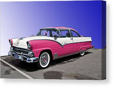 Pink Hot Rod Canvas Prints