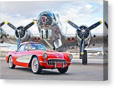 1957 Corvette Canvas Prints