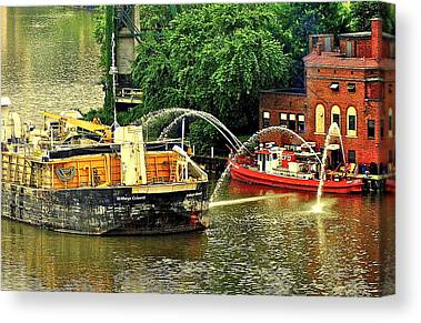 Coal Barge Canvas Prints