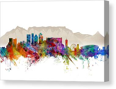 South Africa Digital Art Canvas Prints