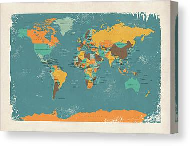 Cartography Canvas Prints