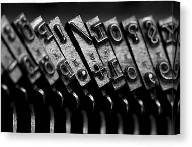 Schreibmaschine Canvas Prints