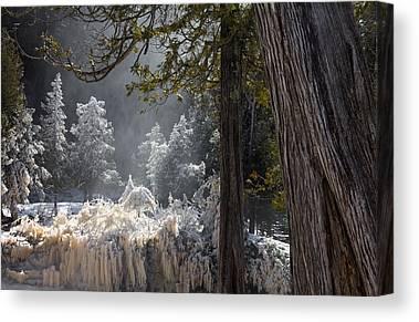 North Shore Lake Superior Spring Melt Gooseberry River Gooseberry Falls Canvas Prints