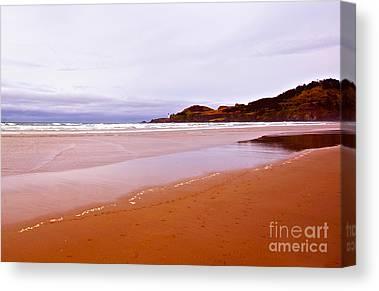 Beach Near Newport Oregon Canvas Prints