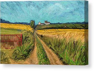 Apostelhoeve Wine Estate Wijngoed Maastricht Briex Landscape Fine Art Digital Art Canvas Prints