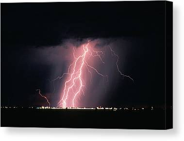 Arizona Lightning Canvas Prints