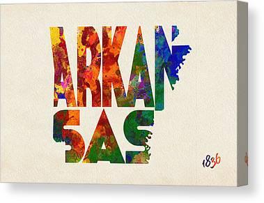 Little Rock Arkansas Paintings Canvas Prints