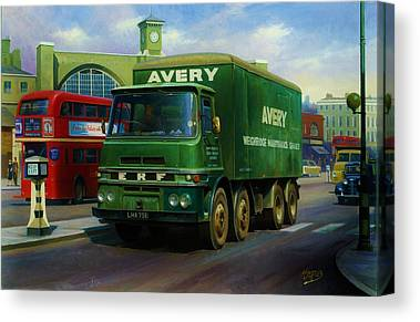 Old Bus Stations Paintings Canvas Prints