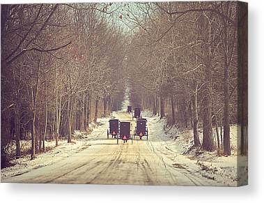 Amish Buggy Canvas Prints