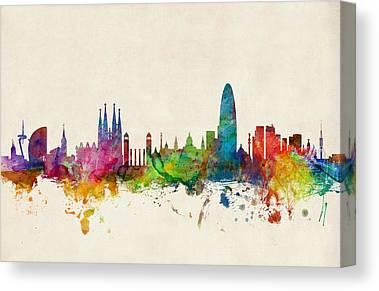Barcelona Canvas Prints