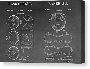 Foul Ball Drawings Canvas Prints