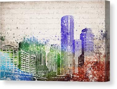 Charles River Digital Art Canvas Prints